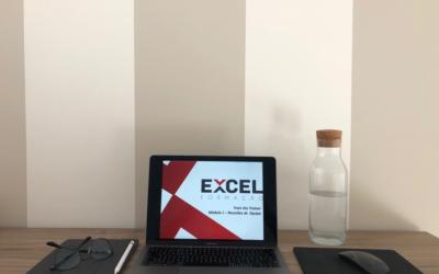 O típico cenário de uma sessão de formação on-line da Excelformação.